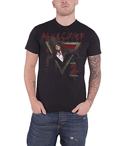 Alice Cooper Herren, T-Shirt, Welcome to my Nightmare, Schwarz, Small (herstellergröße: Small)
