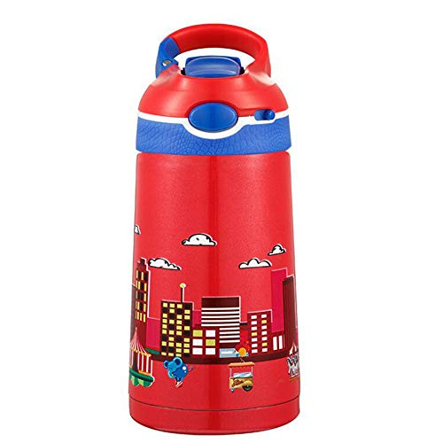 MAOZHE Auslaufsichere Kinder Wasserflasche,Mode-Kinderkessel Portable Lebensmittel-Isolierbecher