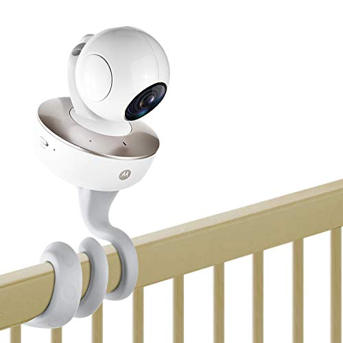 baby monitor mounts [Upgraded Version] iTODOS Baby Monitor Mount for Motorola Baby Monitor,Arlo Baby Monitor and Most Monitors Camera with 1/4 Threaded Hole,Versatile Twist Mount Without Tools - 26° Hardness-Gray