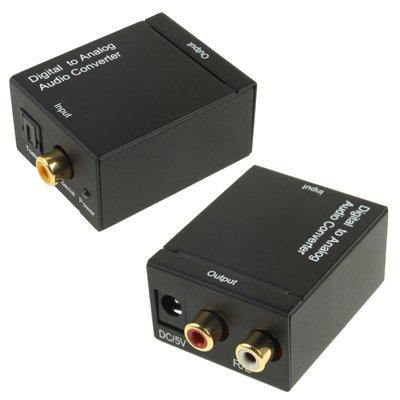 Luoshan Digital coaxial óptico Toslink a RCA analógico convertidor de Audio (Negro)