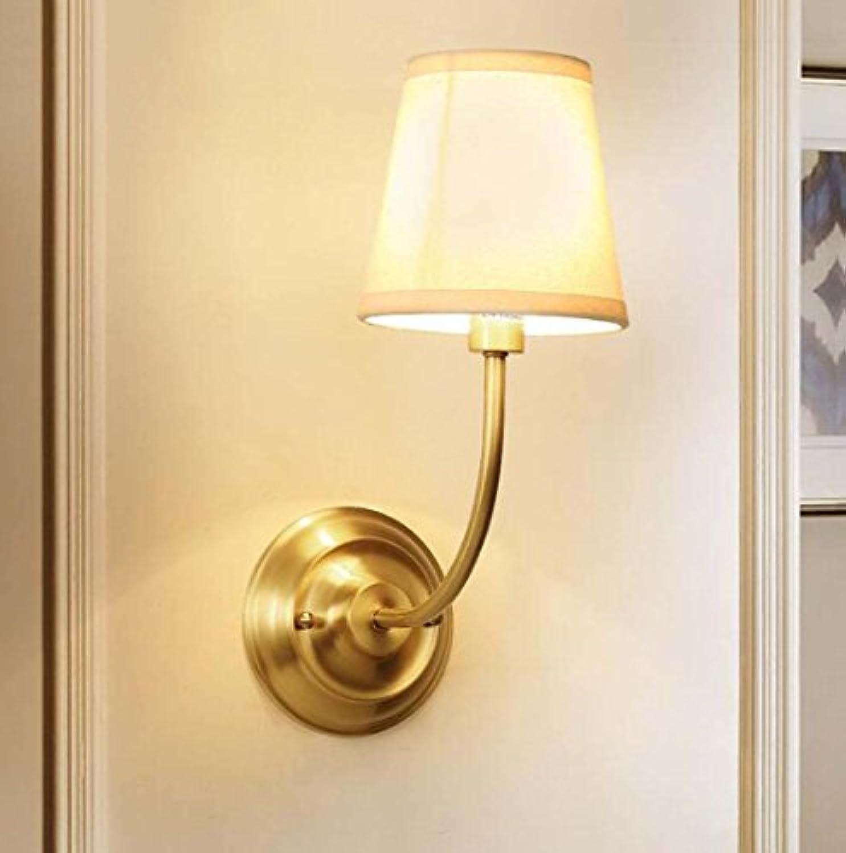 European-Style LED Wandleuchte, moderne minimalistische Kupfer Einzelkopf Lampe, Schlafzimmer Wohnzimmer Schlafzimmer Wandleuchte E14 enthlt keine Glühbirnen XIOAXIOA