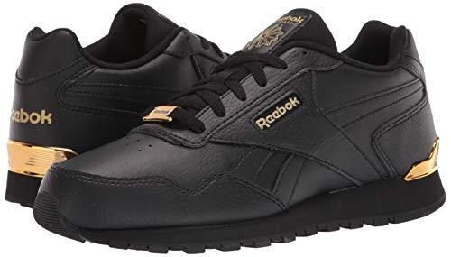 Reebok Classic Harman Run - Zapatillas deportivas para hombre, extra ancha, negro (Negro/Dorado Metálico), 42 EU