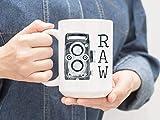N\A Tasse de photographes Raw Cr2 Mug Je Tire la Photographie Brute Cadeau Vintage Film Appareil Photo Affaires Cadeau Meilleur Client Cadeau Tasse à café Images brutes M9