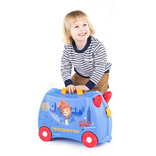Trunki Trolley Kinderkoffer, Handgepäck für Kinder: Paddington Bär (Blau) - 6