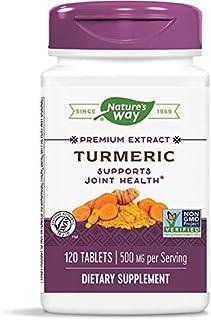 Nature's Way Premium Turmeric, 500mg per Serving, 120 Tablets (Pack of 2)