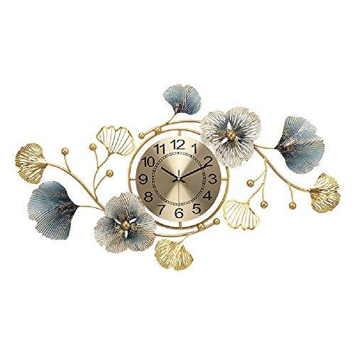 Mode Kreative Uhren Neue chinesische Uhren Wohnzimmer Study Licht Luxus Atmosphäre Ginkgo-Blatt Wanduhr Art Wanduhr Dekoration,Multi colored