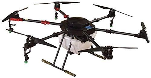 QqHAO Dron pulverizador Protección de Plantas pesticidas agrícolas colinas y montañas Dron máquina de Seis Ejes 10 kg hasta 12 Minutos de duración con batería
