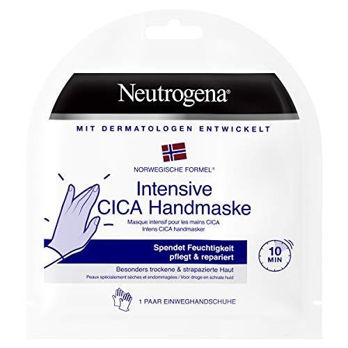 Neutrogena Intensive CICA Handmaske, 1 Paar Einweghandschuhe mit Handcreme, besonders trockene Hände