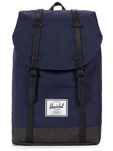 Herschel Retreat Backpack, Peacoat/Black Crosshatch, Classic 19.5L