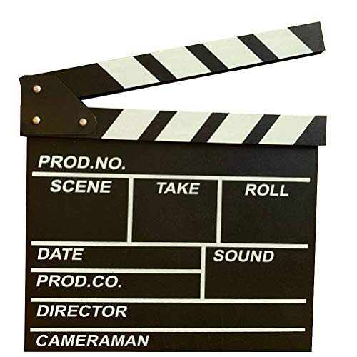 Black Professional Vintage TV Movie Film Clap Board Slate Cut Prop Director Clapper