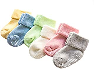 AHC Baby Socks Cotton Breathable Anti Skid Thick Warm Kids Socks for 0-12 Months