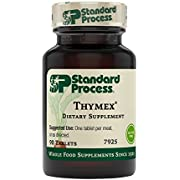 Standard Process Thymex - Whole Food Cholesterol, Thymus Supplement and Immune Support Supplement with Vitamin C, Magnesium Citrate, and Calcium Lactate - Gluten Free - 90 Tablets