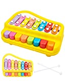 UNIH Baby Piano Xylophone Musical Toys for 1 Year Old Boys Girls, Musical Toys for Toddlers 1-3