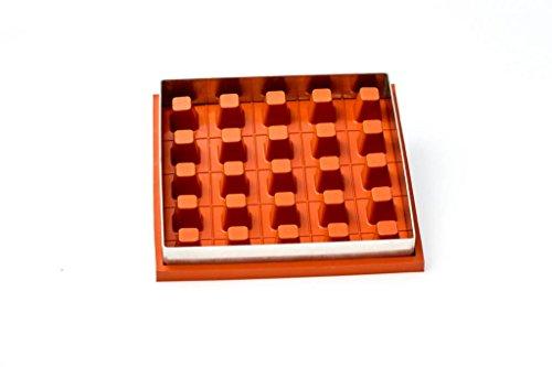 Eckige Zila Tortenform, 25 Würfel, Silikon Backform, Backrahmen 20x20 cm