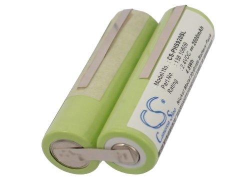 CS-PHS920SL Batería 2000mAh Compatible con [Philips] 5812, 5825, 6423, 6424, 6613, 6614, 6618, 6843, 6853, HP2631, HP2710/A, HP2715, HP2720, HP2750/B, HP6320, HP6320FL, HP6321, HP6326, HP6326/PB, HP6