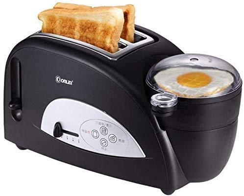ZXL Máquina de Desayuno tostadora eléctrica portátil de Acero Inoxidable para el hogar Máquina para Hornear Pan automática Huevos fritos Caldera Sartén