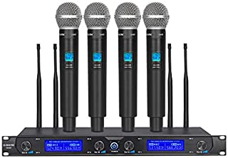 G-MARK G440 Professional Wireless Microphone System Four Channel UHF Dynamic 4 Handheld Micicrophone Karaoke Party Stage