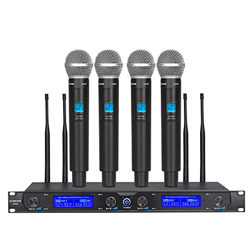 Mikrofon singen G-MARK G440 funkmikrofon set drahtloses professionell 4 Kanäle UHF dynamisches Handmikrofon Party Bühne Show