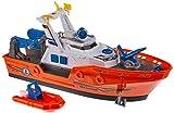 Dickie Toys 203308375 Harbour Rescue 203308375-Harbour - Barco de Rescate con luz y Sonido (Bomba de Agua Manual, 39 cm)