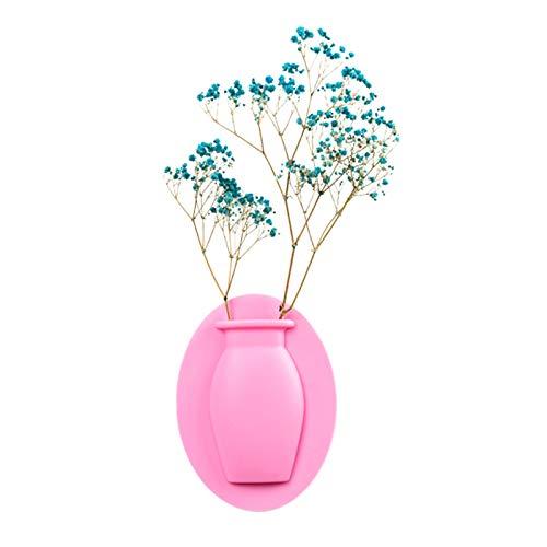 Mengmengda Magia silicona pegajosa florero maceta planta pared colgante contenedor almacenamiento DIY decoración del hogar