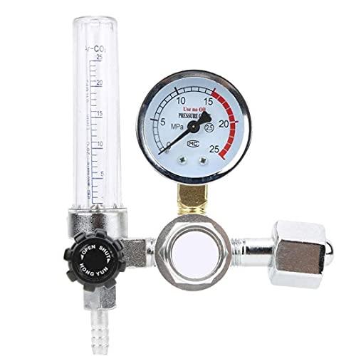Odoukey Hoja de Sierra Argon CO2 Medidor de Flujo del regulador de presión Gauge 0-25MPa Soldador de Partes para Mig TIG Soldadura YAR-88