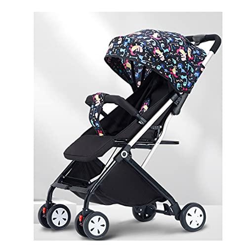 jiji sillas de Paseo Cochecito de bebé, Puede Sentarse en un Trolley reclinado Tipo Ultra Light Plegable Bebé Niño Carretilla Portátil Pastillas Portátiles Coche Infantil Cochecito de bebé