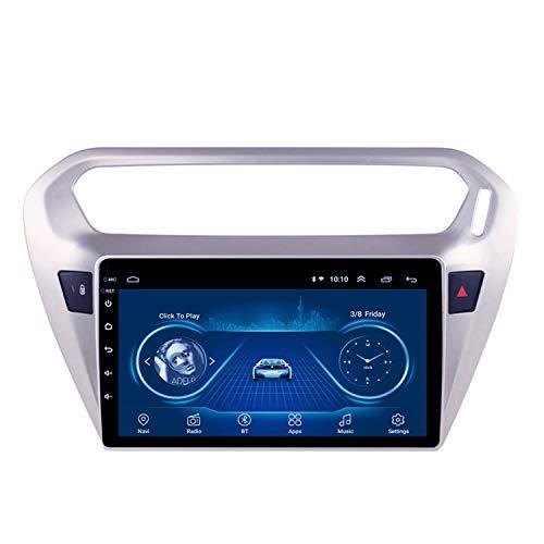 CARACHOME Radio de Coche para Peugeot 301 Citroen Elysee 2014-2018 Android 10 HD 9'Navegación GPS Reproductor Multimedia Soporte Bluetooth Manos Libres Control del Volante,WiFi 1+16g