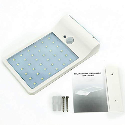 WH Lampade Solari 36 LED, Luci Solari da Esterni Impermeabile, Lampada Wireless per Giardino, Parete, Terrazzino(Luce Bianca),White