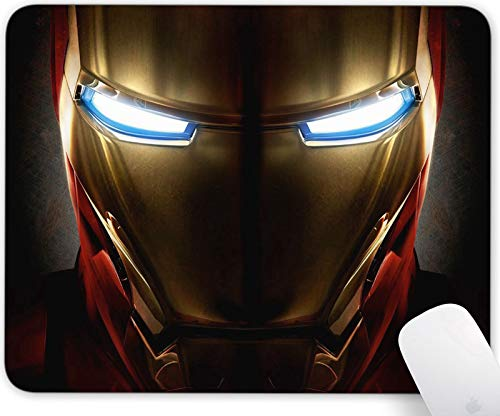 Gaming Mouse Pad ,Rectangle and Round Mousemat Non-Slip Rubber Mouse Pads for Office Computers Laptops The Best Gift (Iron Man)