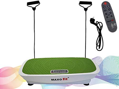 MAXOfit Multi Vibrationsplatte MF-21 Seitenalternierend | Fitness Vibrationsgerät Ganzkörper Training Vibrationstrainer | rutschfeste Trainingsfläche + Trainingsbänder + LCD Display + Fernbedienung