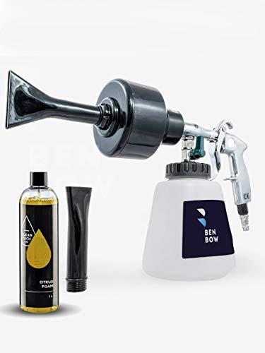 BenBow schaumkanone Reinigungspistole Schwarz + CLEANTECH Aktivschaum, 1L Jetz Neu! Autoshampoo