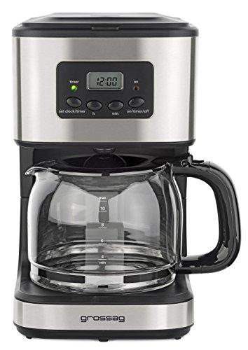 Grossag 1316 KA 46.17 Kaffeemaschine, Plastik, 1.5 liters, silber/schwarz