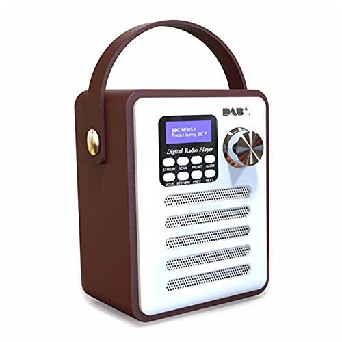 QWVEDX Retro Player Radio Holz Tragbares...
