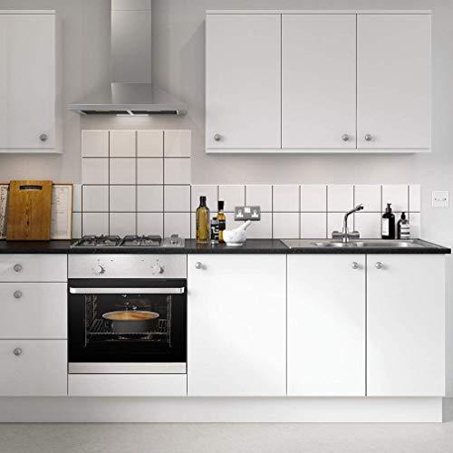 KINLO weiß glanz Möbelfolie MIT GLITZER 5x0.61M PVC Klebefolie Küchenschrank Aufkleber Selbstklebend Küchenfolie Deko Plotterfolie