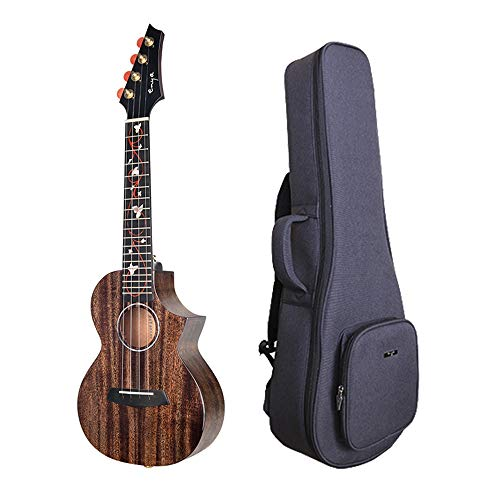 Enya EUC-M6 Concert Ukulele NEW Dark Brown Color All AAA Solid Mahogany Wood Ukulele with Padded Ukulele Bag