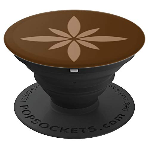 Brown-Tan Chic Fashion Star Flower Alternate Luxury Lux Gift - PopSockets Ausziehbarer Sockel und Griff für Smartphones und Tablets