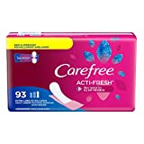 Carefree Acti-Fresh Body Shape Pantiliners Extra Long Unscented - 93 Count