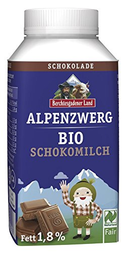 Berchtesgadener Land Bio Alpenzwerg Bio-Schokomilch für Kinder 1,5% Fett (6 x 236 ml)