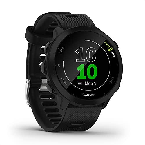 """Garmin Forerunner 55 – GPS-Laufuhr mit 1,04"""" Always-On-Farbdisplay, täglichen Trainingsempfehlungen, Laufzeitprognose, über 15 vorinstallierten Sport-Apps und bis zu 14 Tagen Akkulaufzeit."""