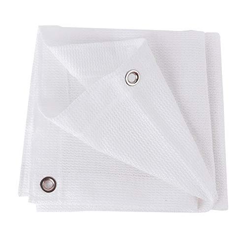 GFBHD Toldos Malla Resistente a los Rayos UV Red de sombreado Blanco Balcón Protector Solar casero Aislamiento térmico cifrado Engrosado Patio de Flores (Color : White, Size : 1x1m)