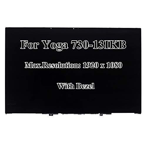 13,3 Zoll IPS FHD 1920x1080 LCD Display LED Panel Touchscreen Digitizer Board mit Blende Rahmen Montage für Lenovo Yoga 730-13IKB 81CT 5D10Q89746