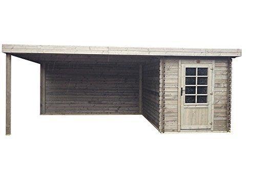 Fonteyn Gartenhaus/Blockhütte Petra Flachdach 580x300 cm Hochdruck imprägniert