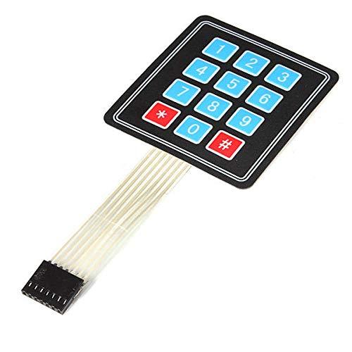 FEIYI Andere Modulplatine 4 x 3 Matrix 12 Tasten Array Membran Switch Keypad Tastatur für Arduino – Produkte, die mit offiziellen Arduino Boards funktionieren.