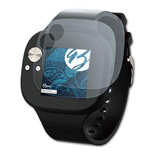 Bruni Schutzfolie kompatibel mit Asus VivoWatch BP HC-A04 Folie, glasklare Bildschirmschutzfolie (2X)