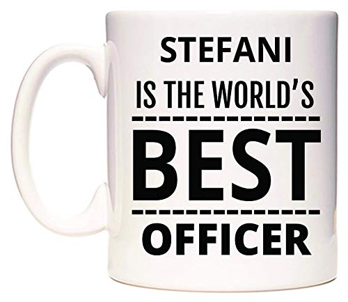 WeDoMugs Stefani is The World's Best Officer Becher