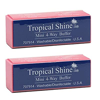Tropical Shine Mini 4-Way Nail Buffer Block 2 piece