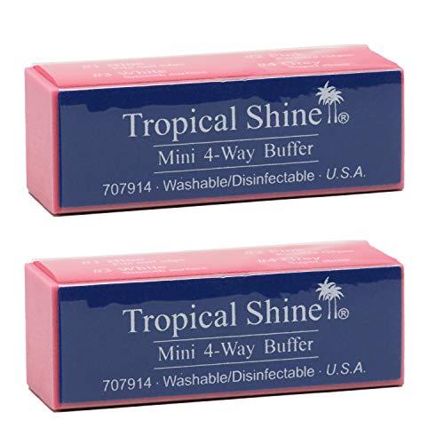 Tropical Shine Mini 4-Way Nail Buffer Block 2 piece