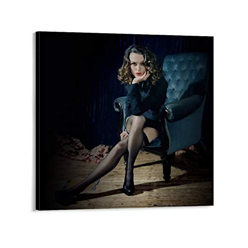 FANGER Keira Knightley Posters Sexy Black Silk PosterCanvas Material 20x20inch(50x50cm) Wall Art Poster Gifts Bedroom Prints Home Decor Hanging Picture Canvas Painting Posters
