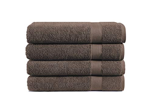 100% Cotton 4-Piece Bath Towel Set: Luxuriously Sized (30 X 54 Inch), Classic Amercian Construction, Soft, Highly Absorbent, Machine Washable (Navy Blue)