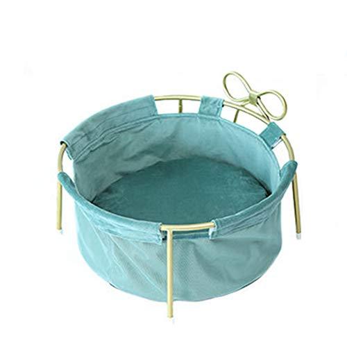 GXHGRASS, kattenhuis, retro, afneembare metalen houder voor kattennest-hangmat, 20 cm ophanghoogte, antislip bodem voor huisdieren tot 10 kg